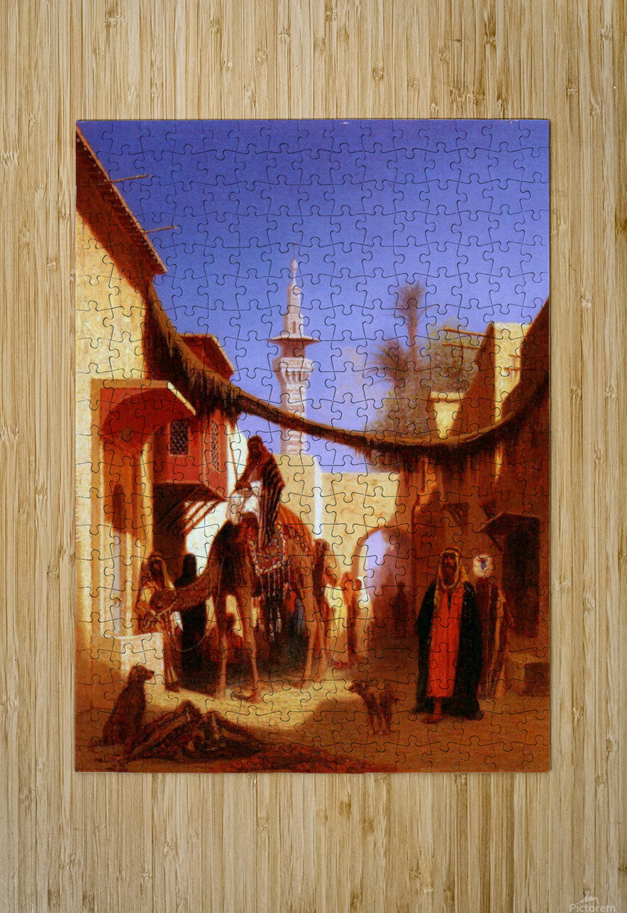 Street in Cairo  HD Metal print with Floating Frame on Back