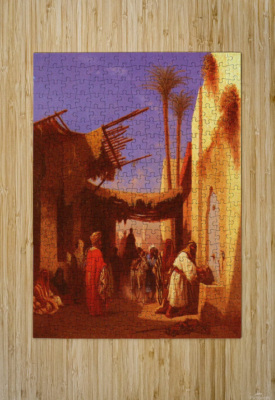 Street in Damascus  HD Metal print with Floating Frame on Back