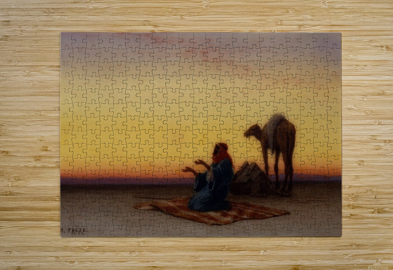 Arab at prayer  HD Metal print with Floating Frame on Back