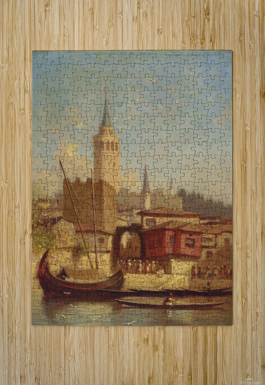 The Galata Tower, Constantinople  HD Metal print with Floating Frame on Back