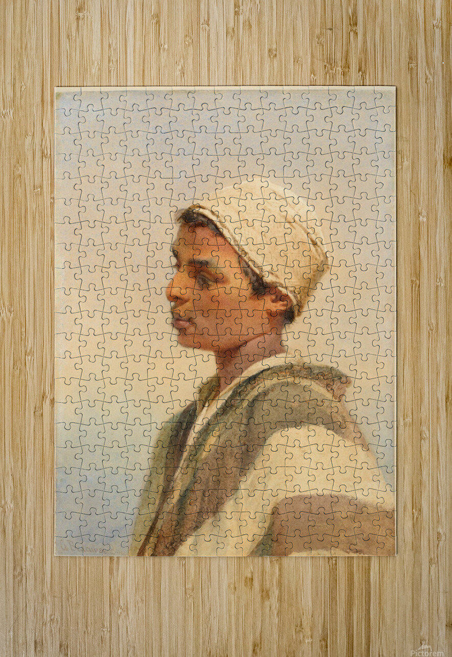 A Bedouin Boy  HD Metal print with Floating Frame on Back