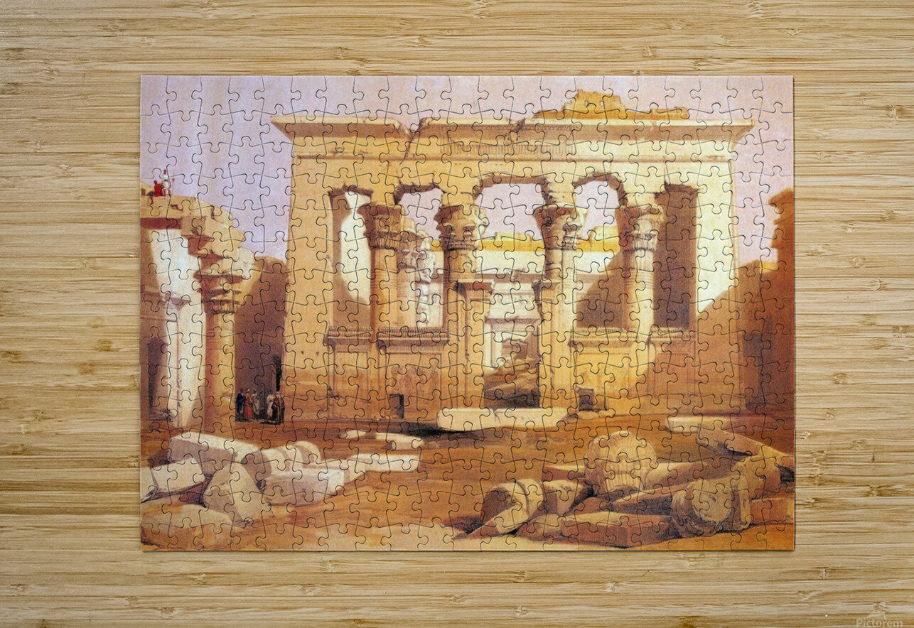 Ancient Egyptian civilization ruins with figures  HD Metal print with Floating Frame on Back