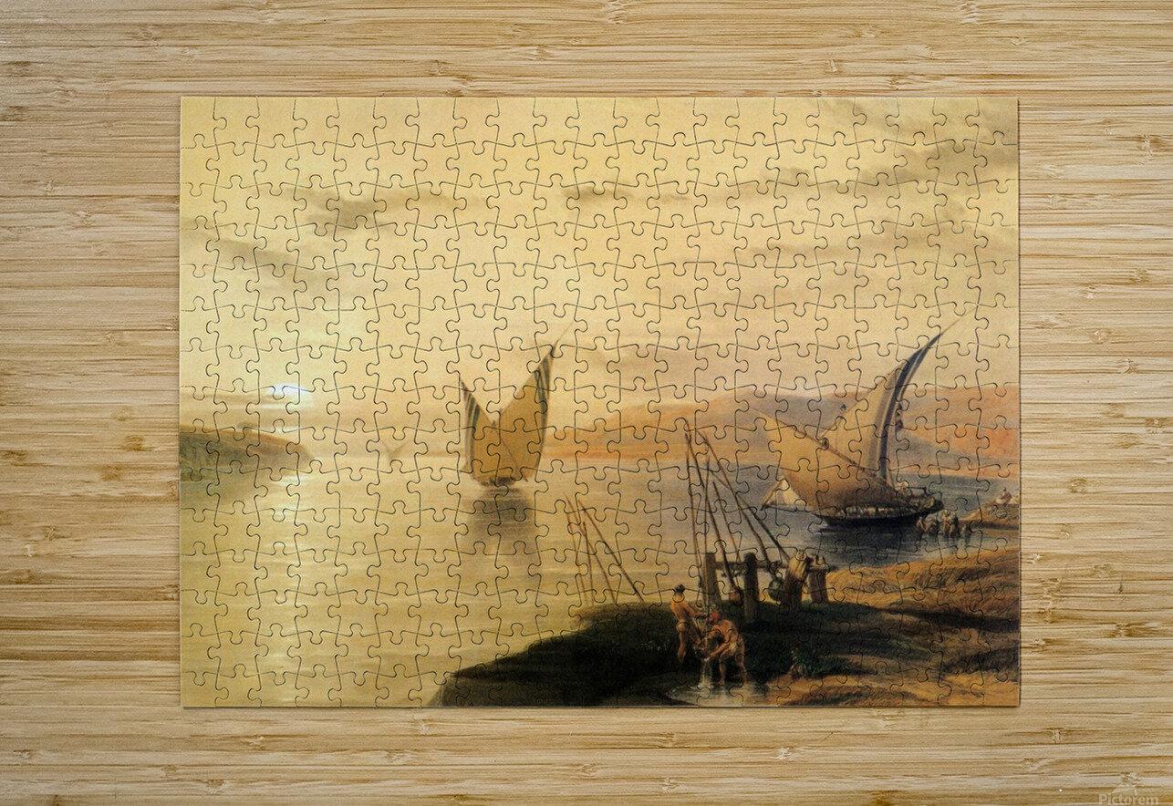 Gebel El Silsilis 1838  HD Metal print with Floating Frame on Back
