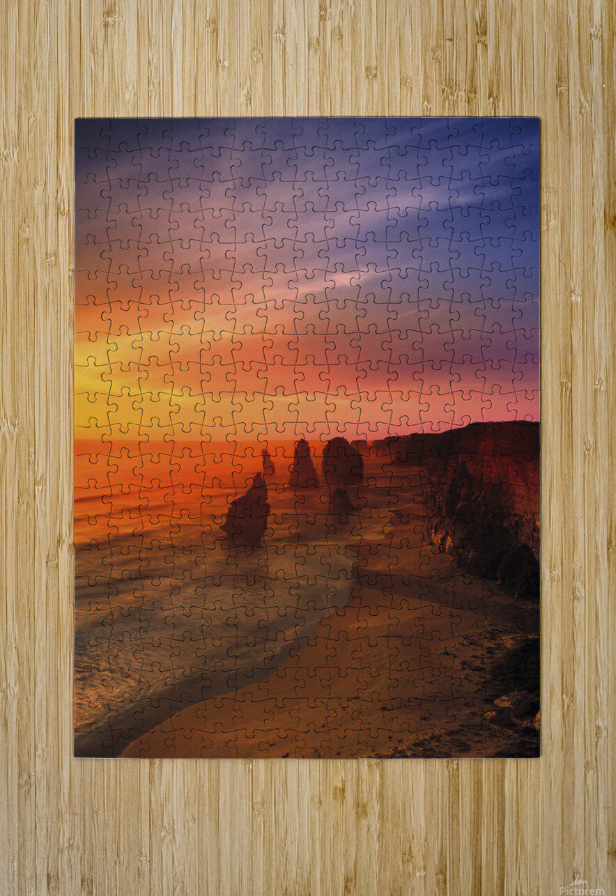 Sunset And Rock Formations  HD Metal print with Floating Frame on Back