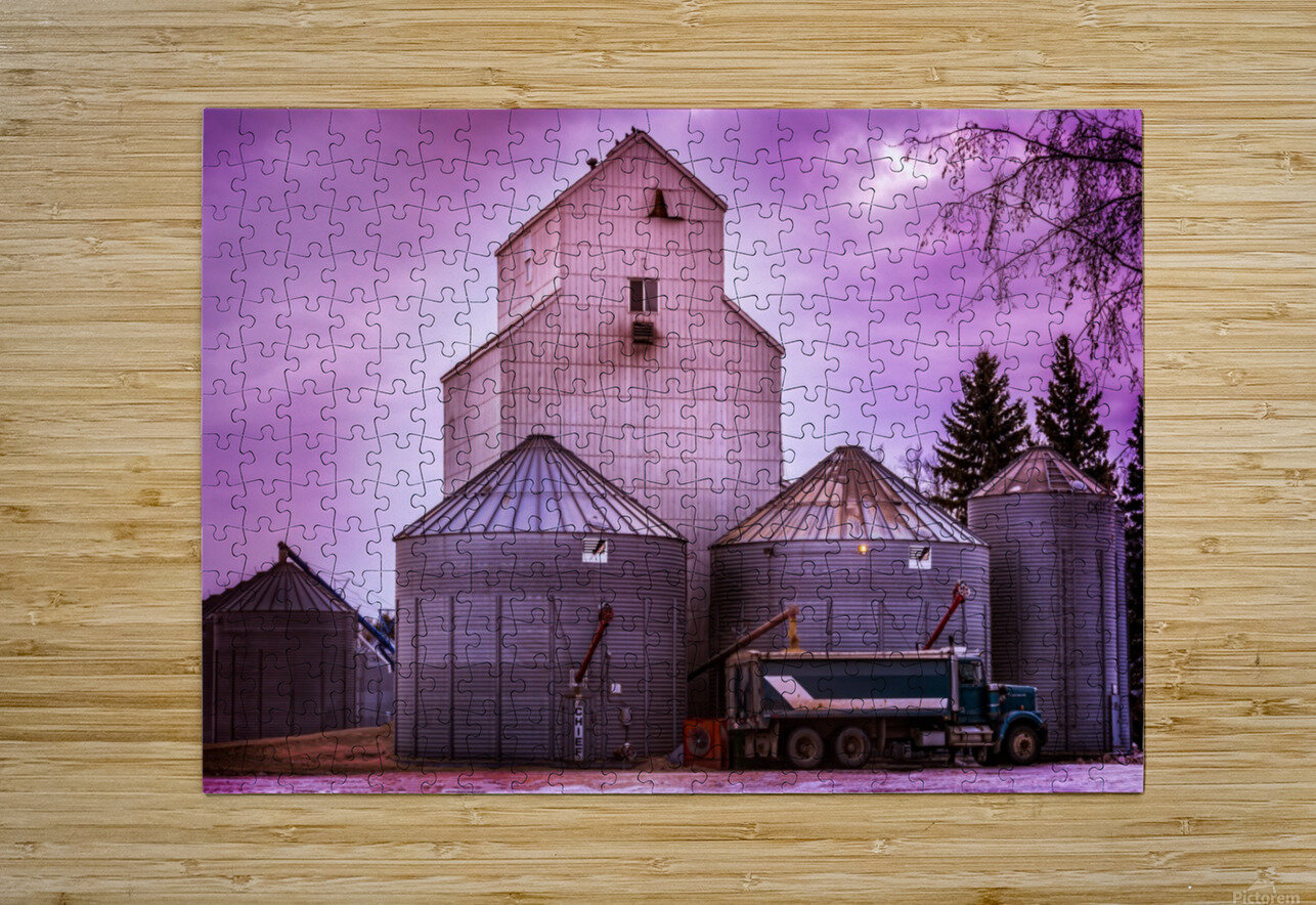 The Magenta Silos  HD Metal print with Floating Frame on Back