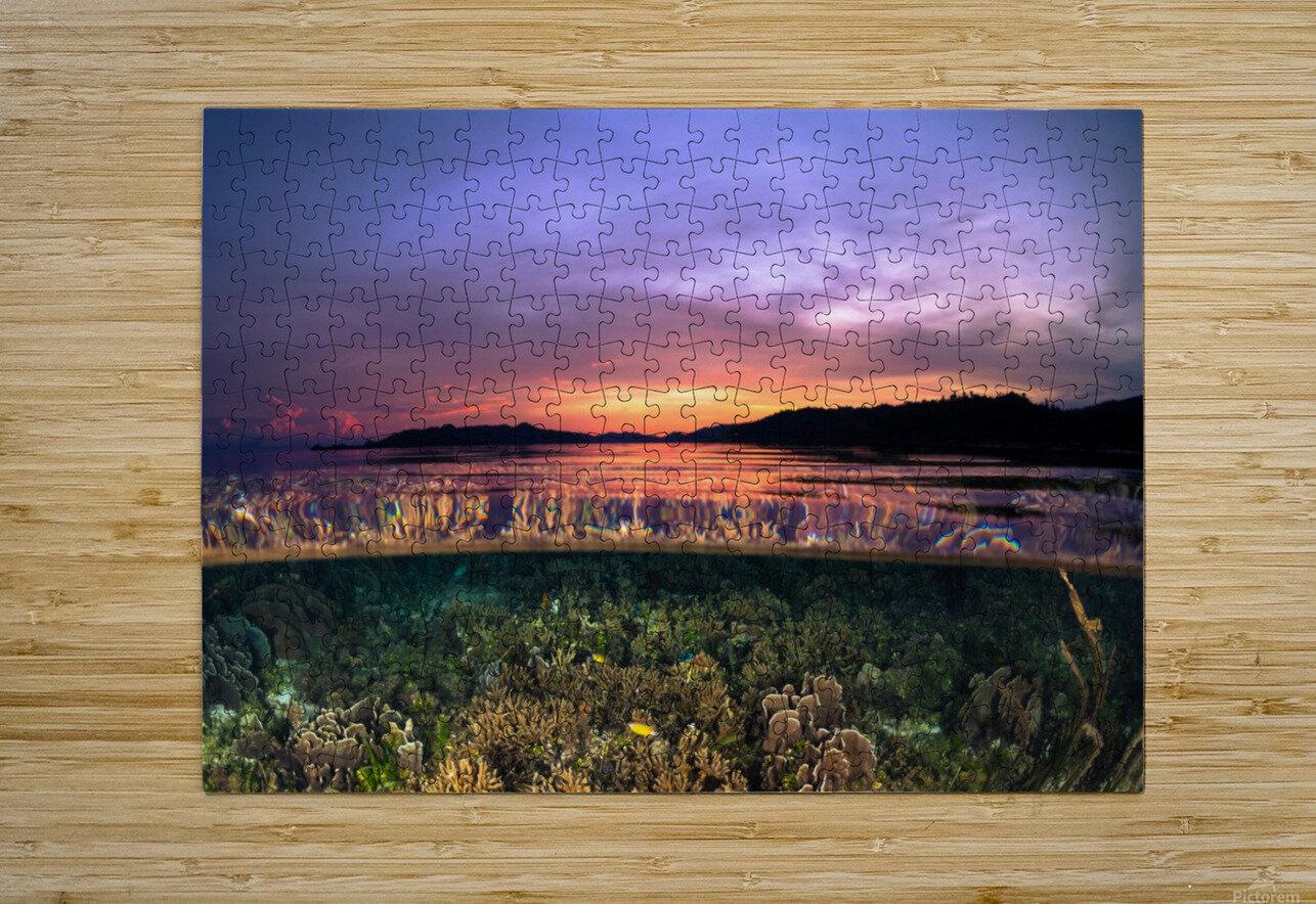 Raja Ampat sunrise  HD Metal print with Floating Frame on Back