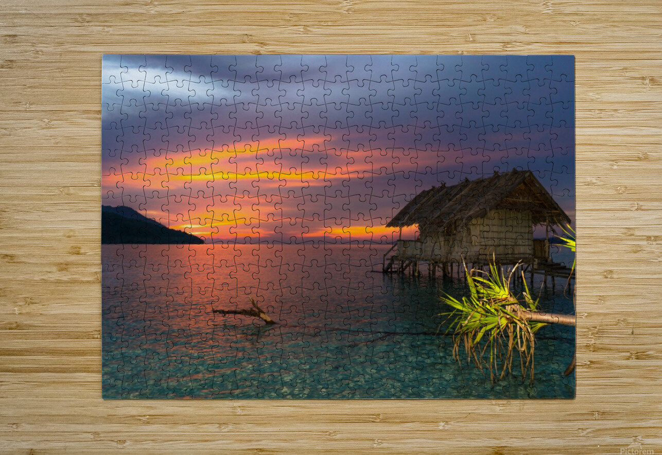 Simple life  HD Metal print with Floating Frame on Back