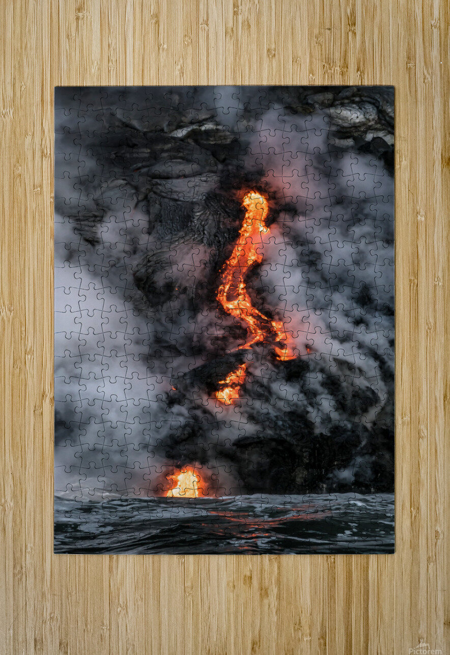 Simple lava shot  HD Metal print with Floating Frame on Back