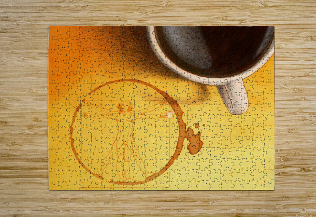 coffee man  HD Metal print with Floating Frame on Back