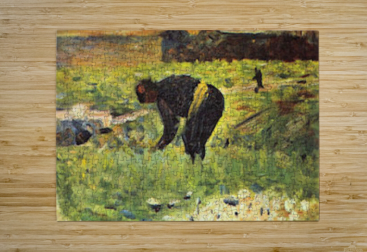 Farmer at work by Seurat  HD Metal print with Floating Frame on Back