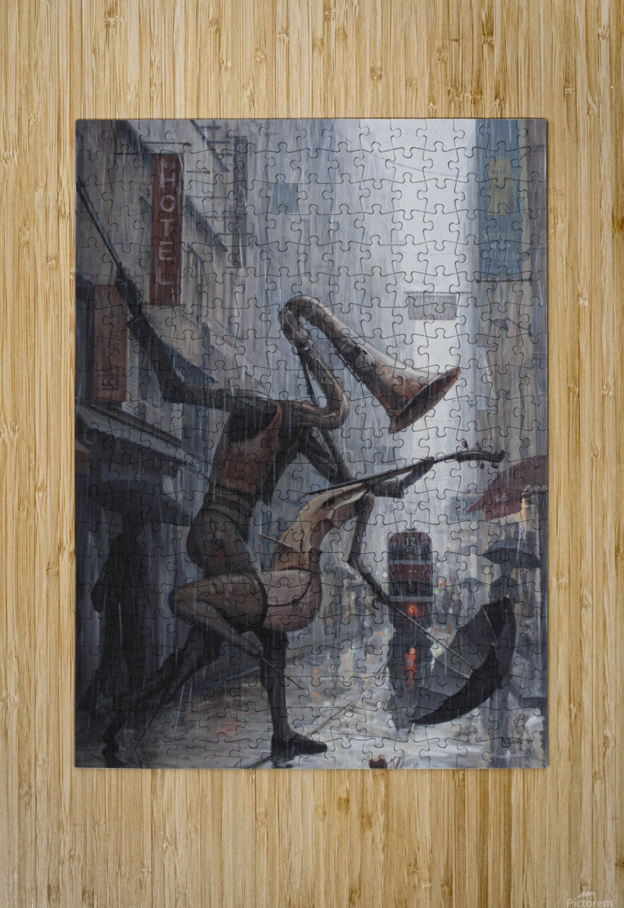 Life is a Dance in The Rain  HD Metal print with Floating Frame on Back