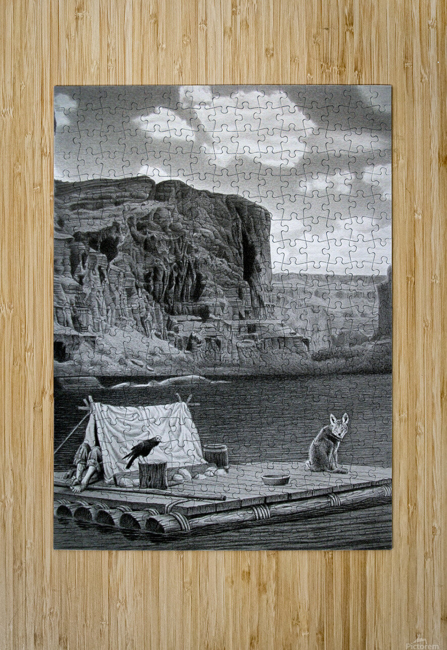 IN THE GRAND CANYON  HD Metal print with Floating Frame on Back
