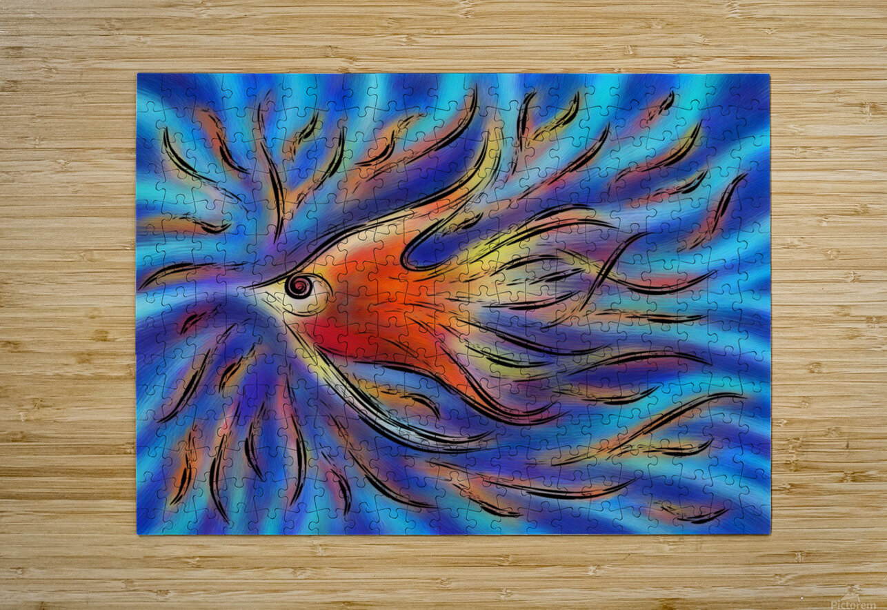 Poloniussa - red angelfish  HD Metal print with Floating Frame on Back