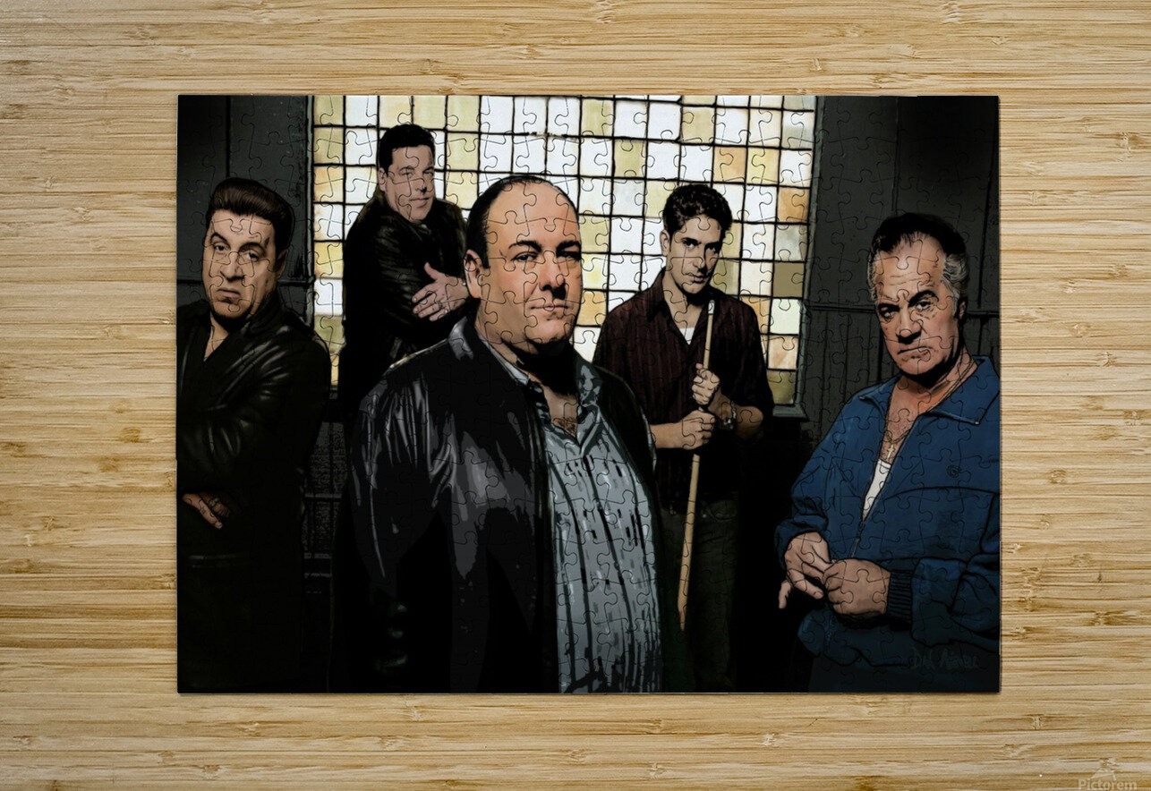 The Sopranos   HD Metal print with Floating Frame on Back