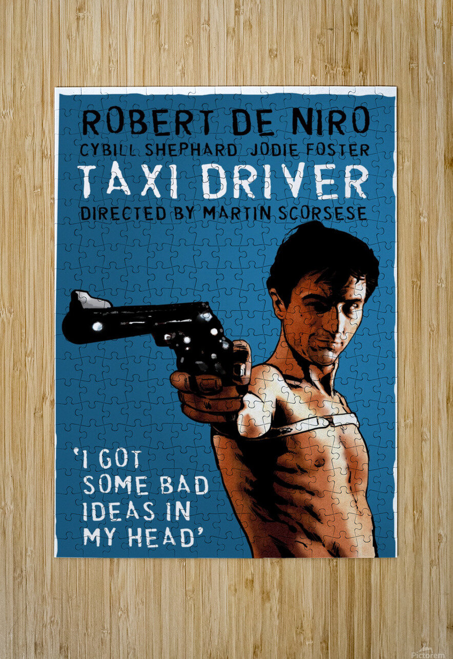 Taxi Driver  HD Metal print with Floating Frame on Back