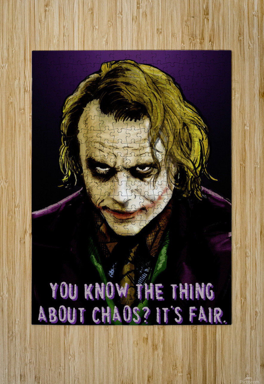 The Joker Says  HD Metal print with Floating Frame on Back