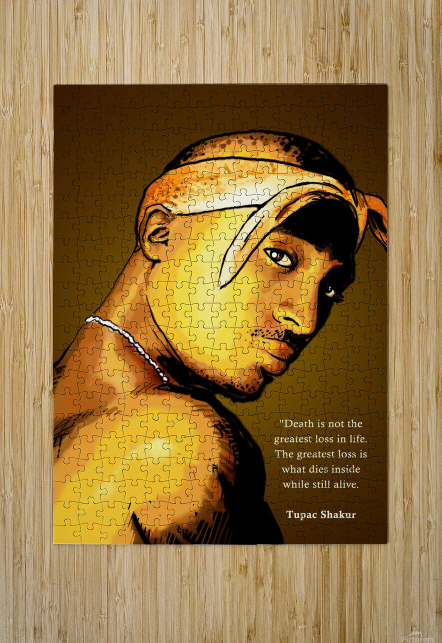 Tupac  HD Metal print with Floating Frame on Back