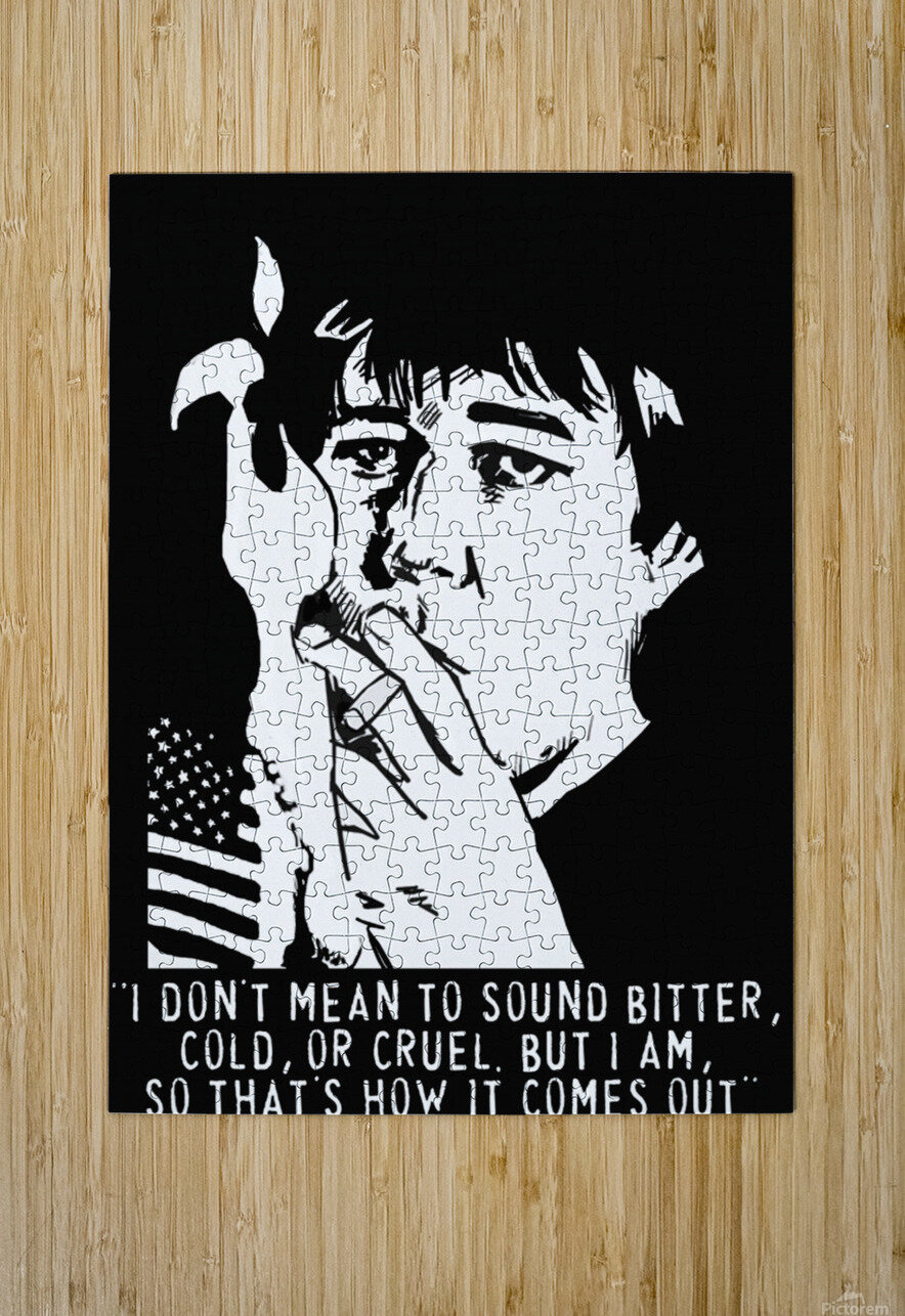 Bill Hicks  HD Metal print with Floating Frame on Back