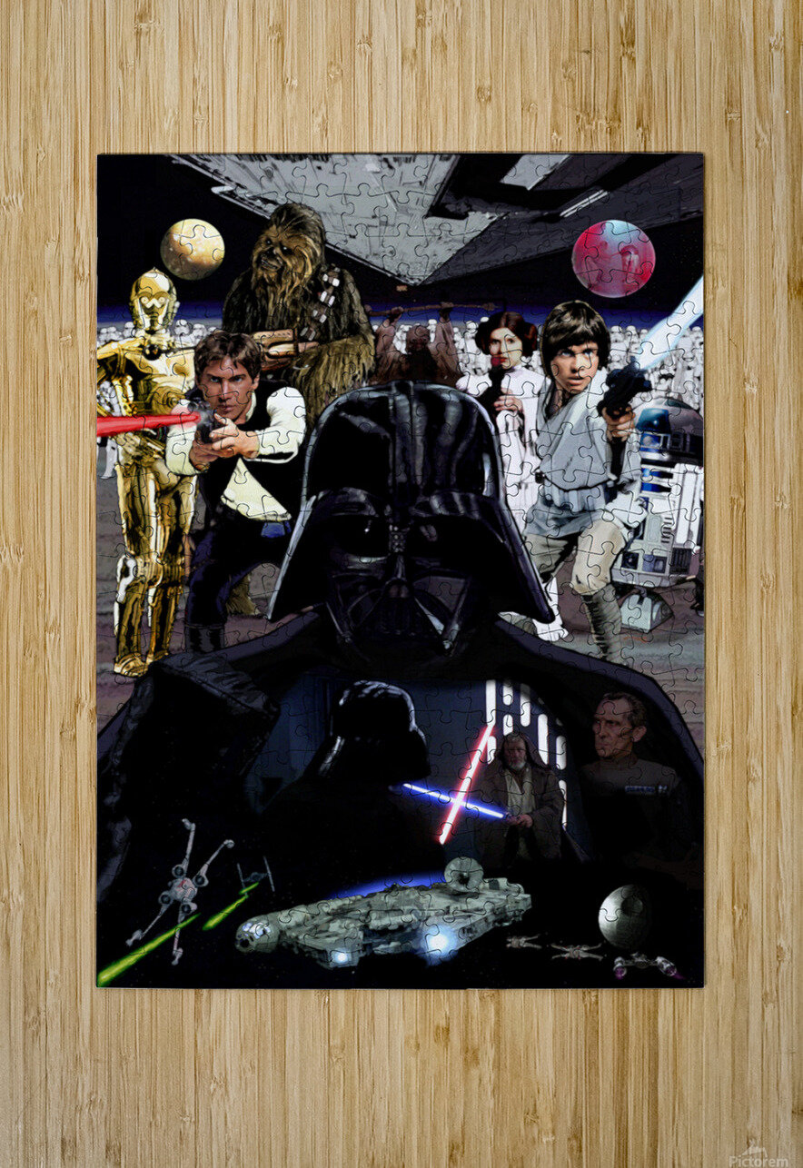 Star Wars   HD Metal print with Floating Frame on Back
