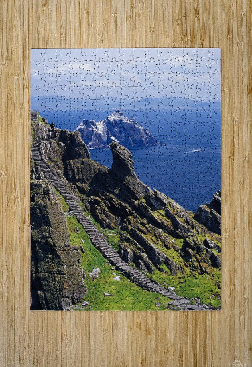 Stone Stairway, Skellig Michael, Skellig Islands, County Kerry, Ireland  HD Metal print with Floating Frame on Back