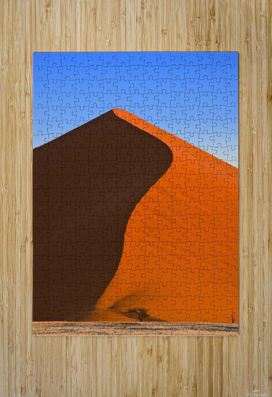 Sand Dune, Sossusvlei, Namib Desert, Namibia, Africa  Impression métal HD avec cadre flottant sur le dos