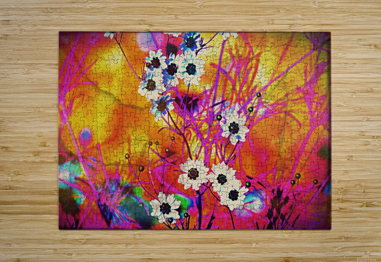 Fancy Weeds  HD Metal print with Floating Frame on Back
