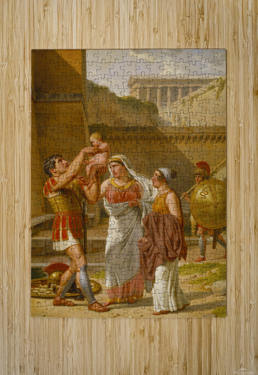 Hector's farewell to Andromache  HD Metal print with Floating Frame on Back