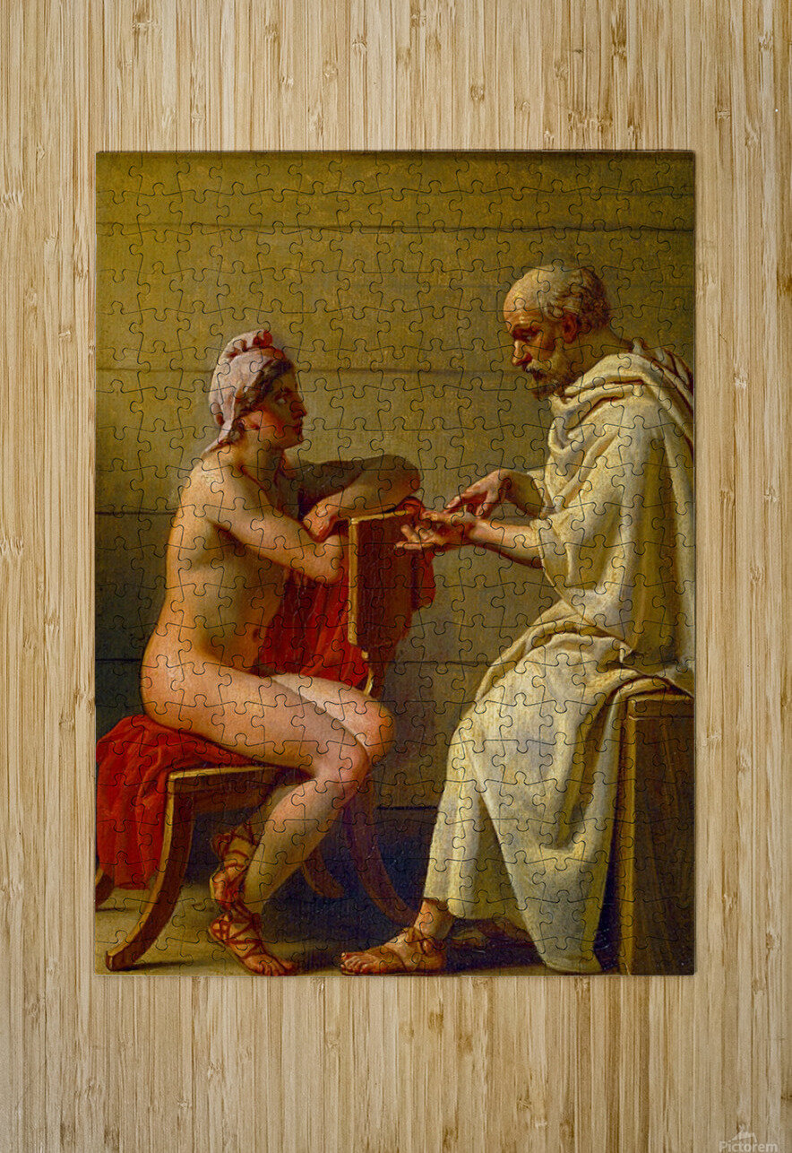 Socrates and Alcibiades  HD Metal print with Floating Frame on Back