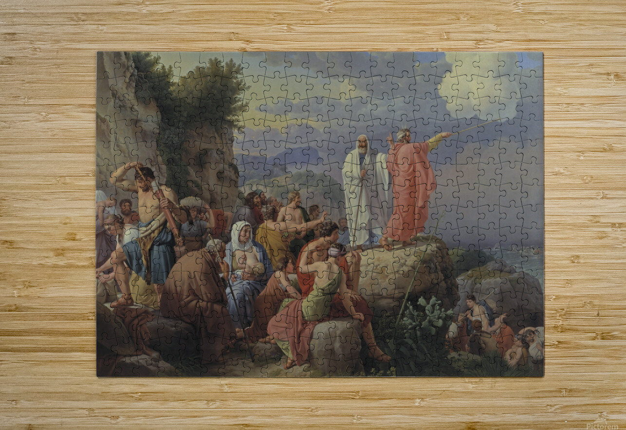 Israelites resting after the crossing of the Red Sea, 1815  HD Metal print with Floating Frame on Back
