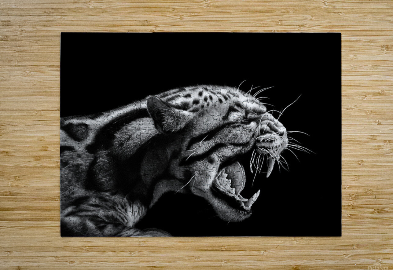 ANGER  HD Metal print with Floating Frame on Back