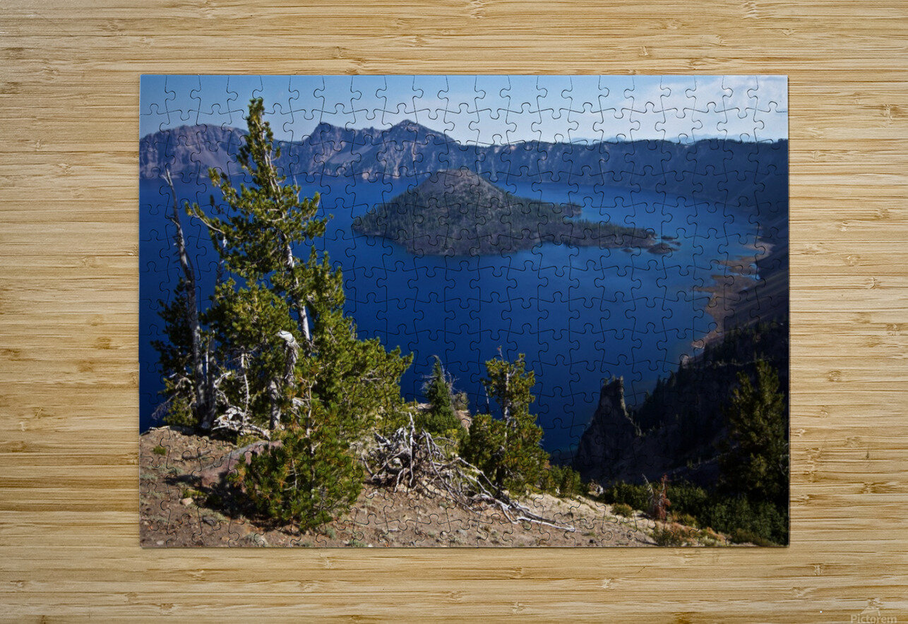 Crater Lake Scenic Aug, 2015  HD Metal print with Floating Frame on Back