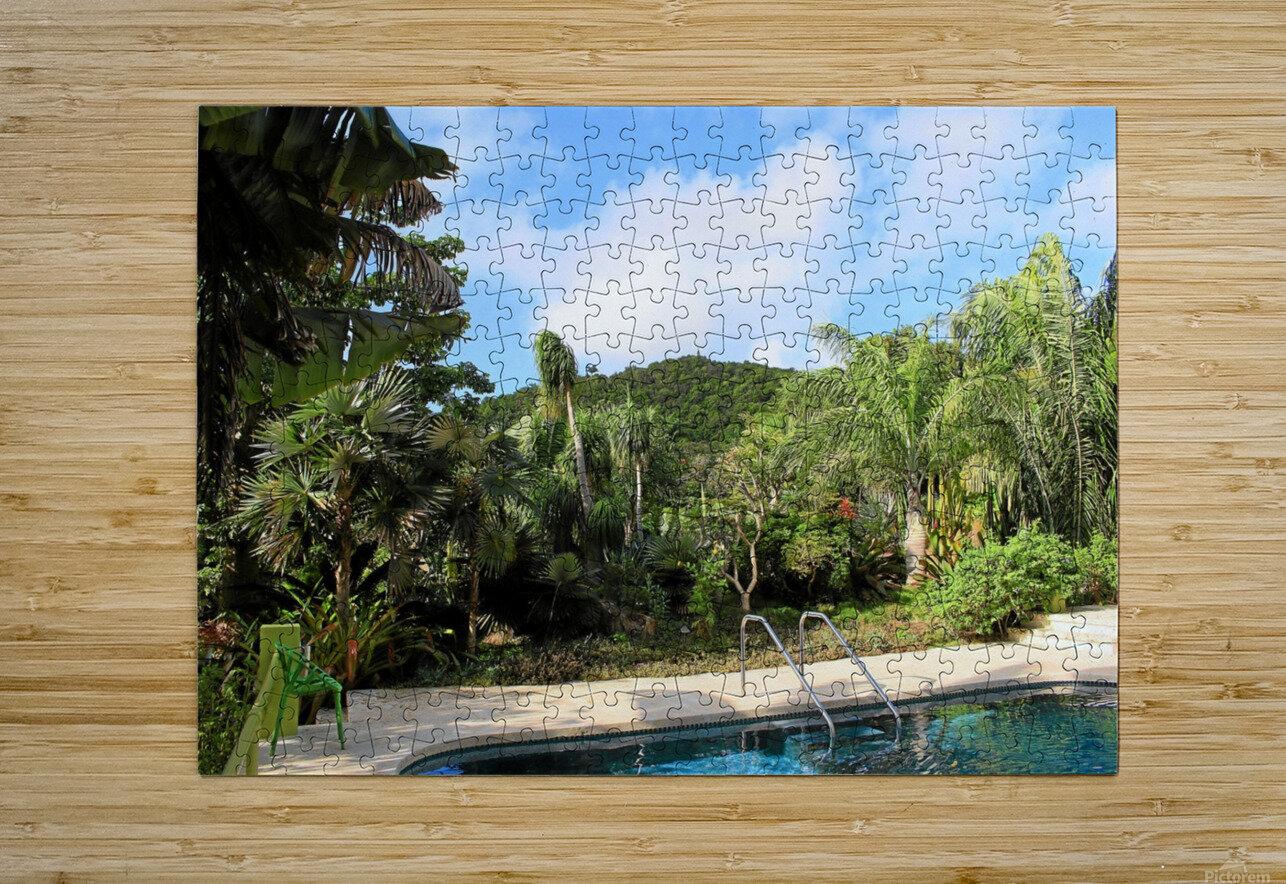 Nevis GR2  HD Metal print with Floating Frame on Back
