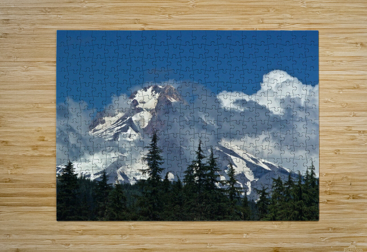 Clouded Peak-Mt Hood  HD Metal print with Floating Frame on Back