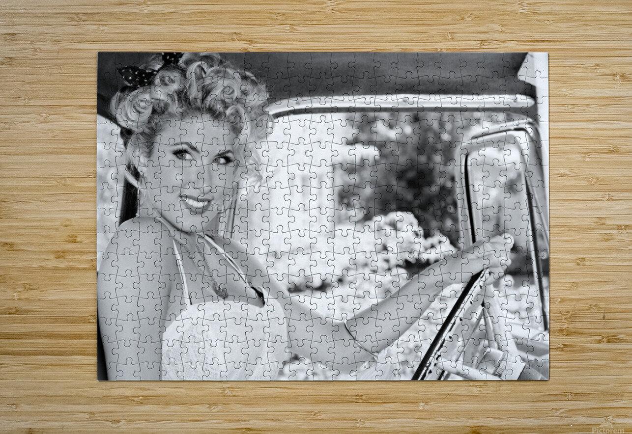 ©Lou Freeman Dark Glamour & Beauty Black & White    77  HD Metal print with Floating Frame on Back
