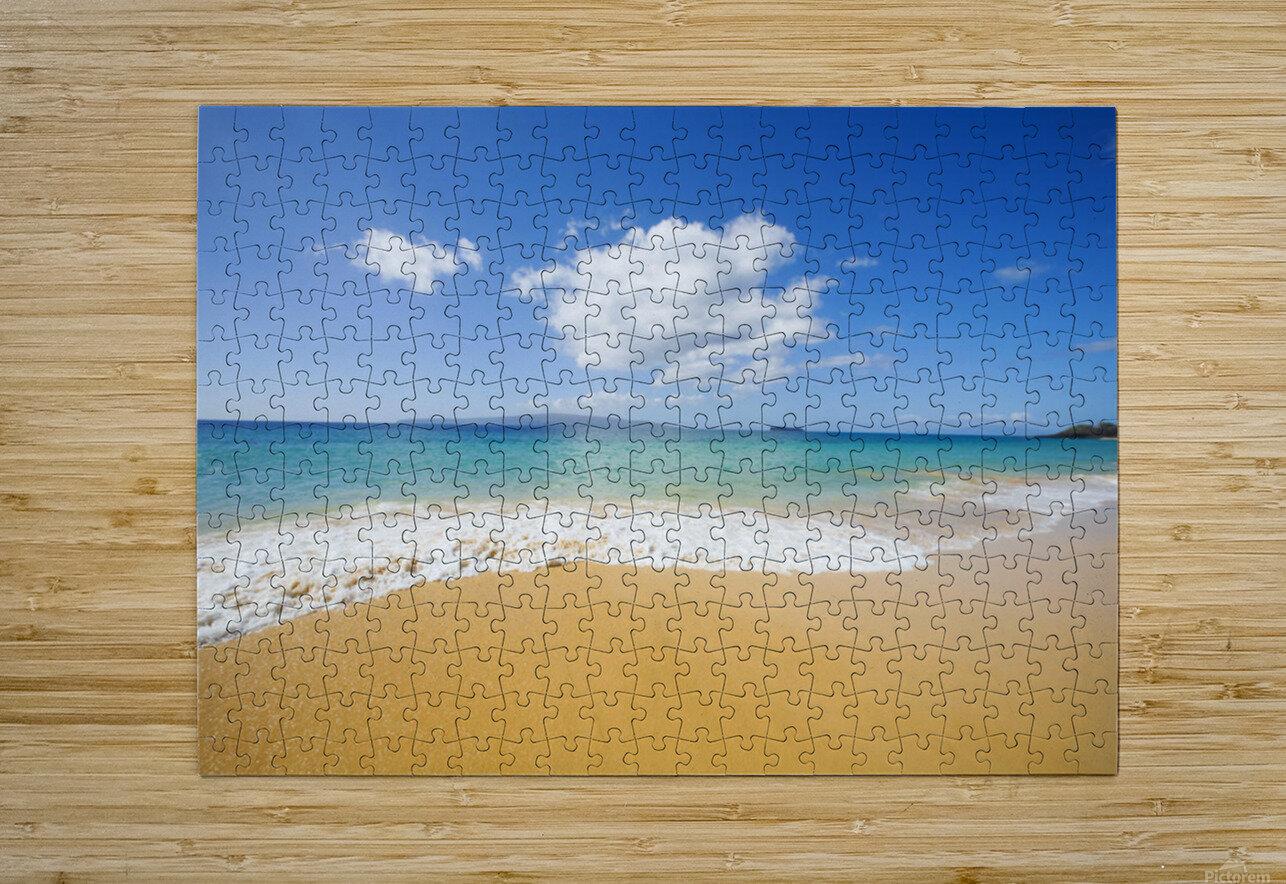 USA, Hawaii Islands, Maui, Big Beach; Makena  HD Metal print with Floating Frame on Back