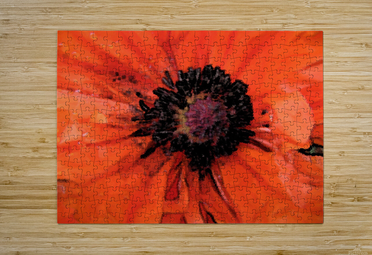 poppies will make you sleep  HD Metal print with Floating Frame on Back