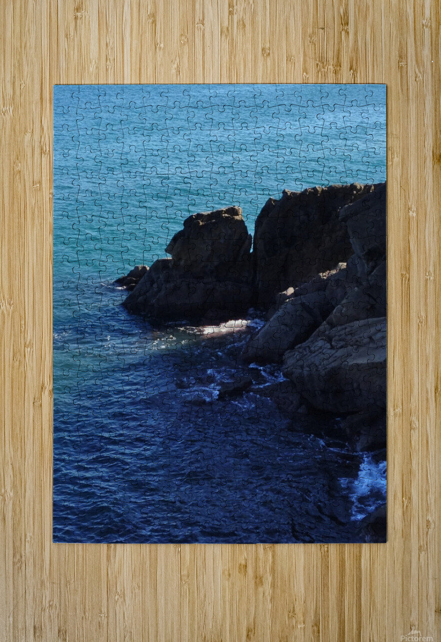 a little bit of light  HD Metal print with Floating Frame on Back