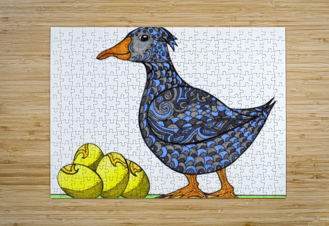 Goose and Golden Eggs  HD Metal print with Floating Frame on Back
