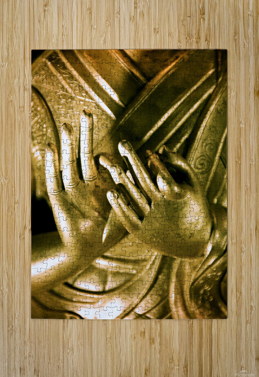 China, Buddha Hands Found On Hollywood Road; Hong Kong  HD Metal print with Floating Frame on Back
