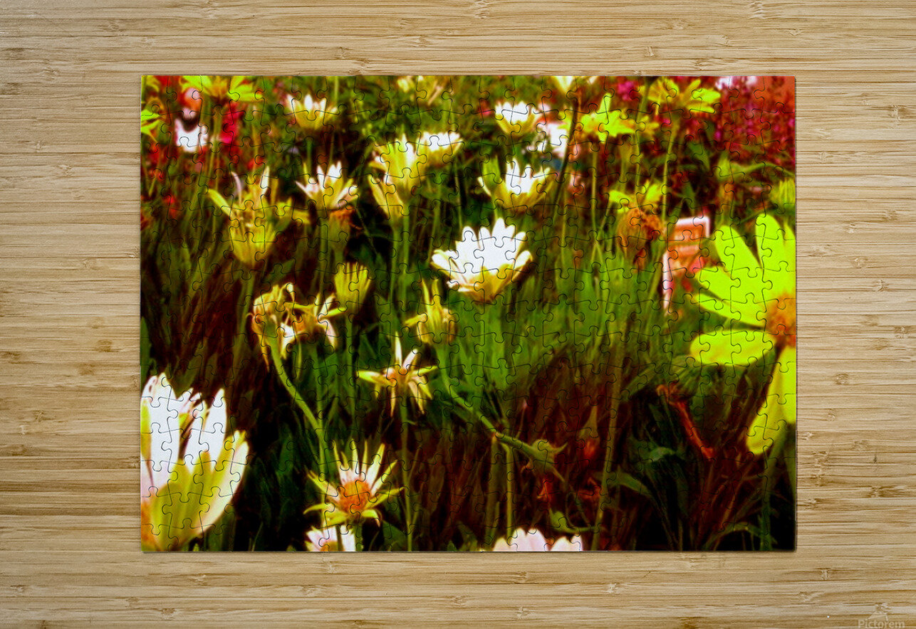 forest of flowers  HD Metal print with Floating Frame on Back