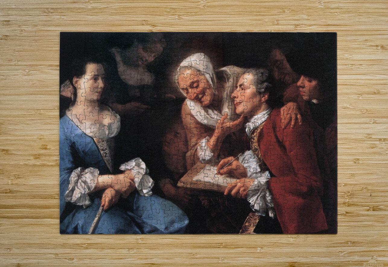 The sitting, 1754  Impression métal HD avec cadre flottant sur le dos