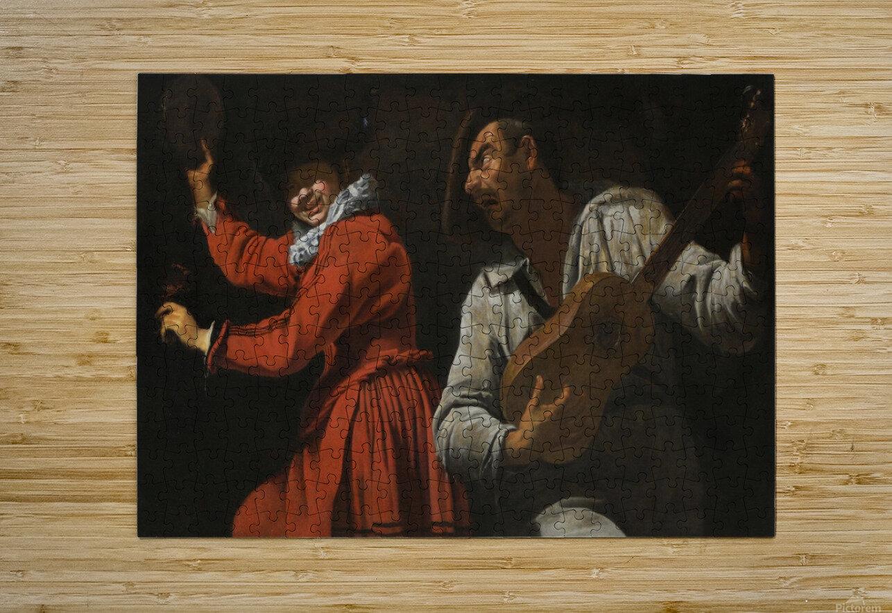 The two musicians  Impression métal HD avec cadre flottant sur le dos