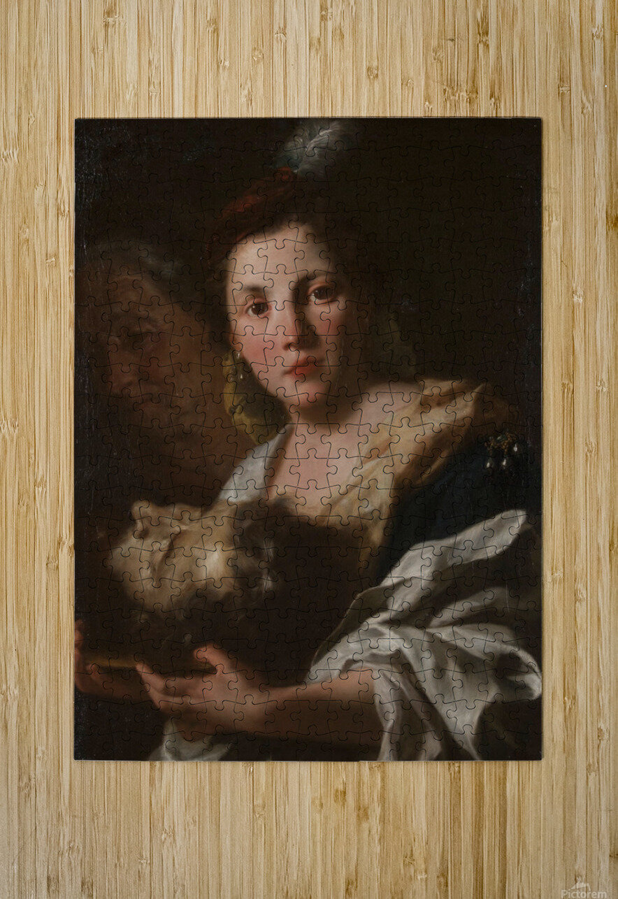Judith with the head of Holofernes  Impression métal HD avec cadre flottant sur le dos