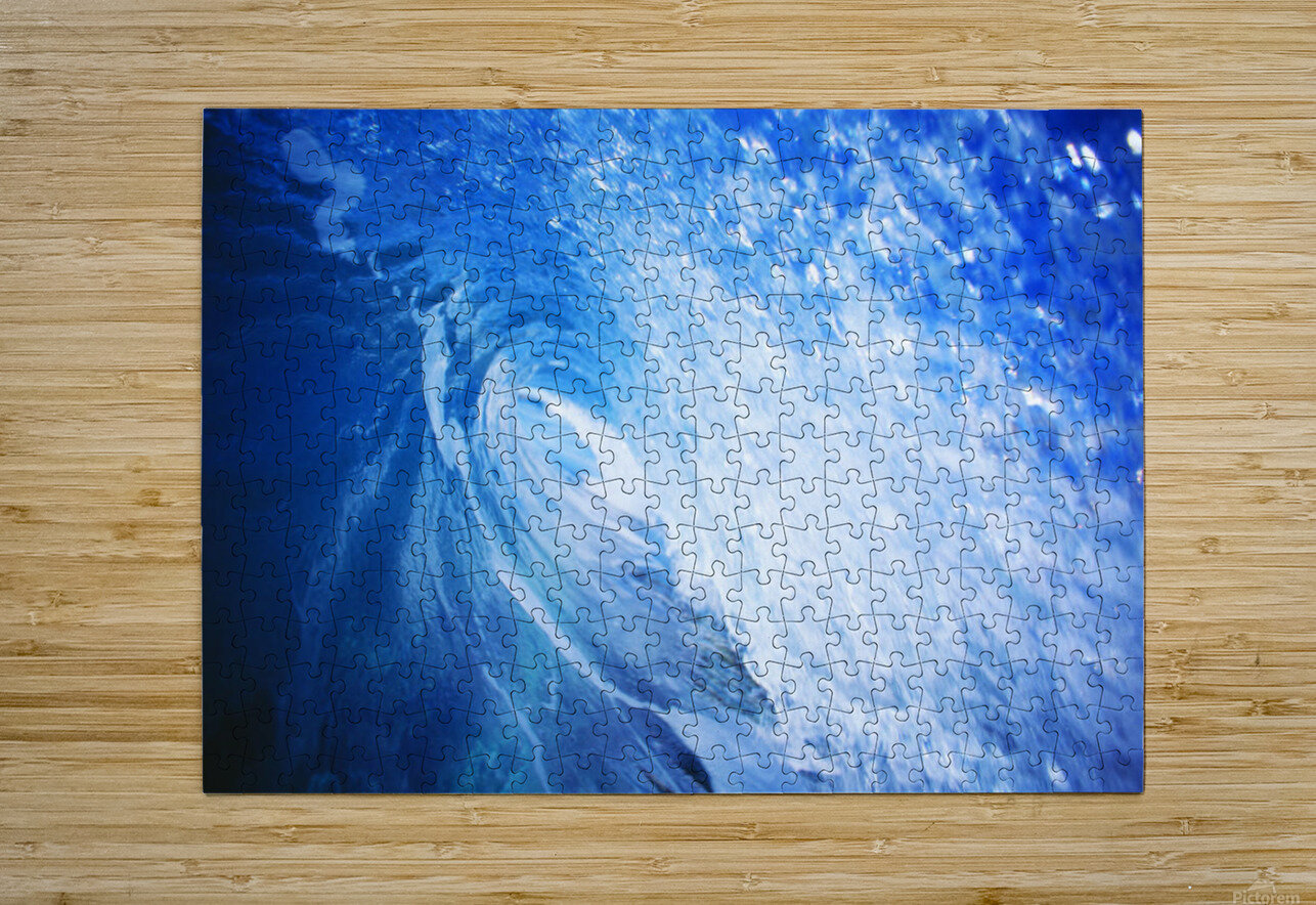 Hawaii, Oahu, Perfect Wave At Pipeline.  HD Metal print with Floating Frame on Back