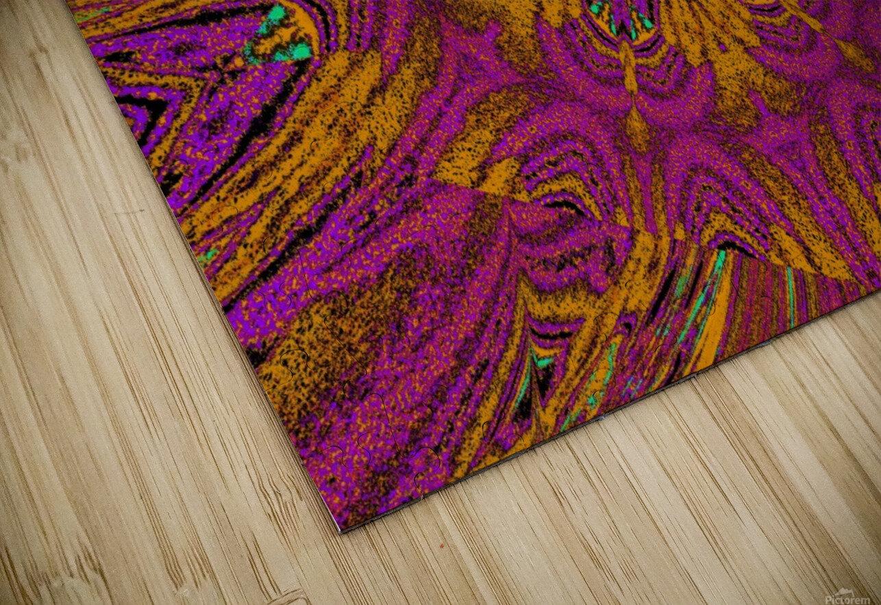 Pink Orange Jasmine HD Sublimation Metal print
