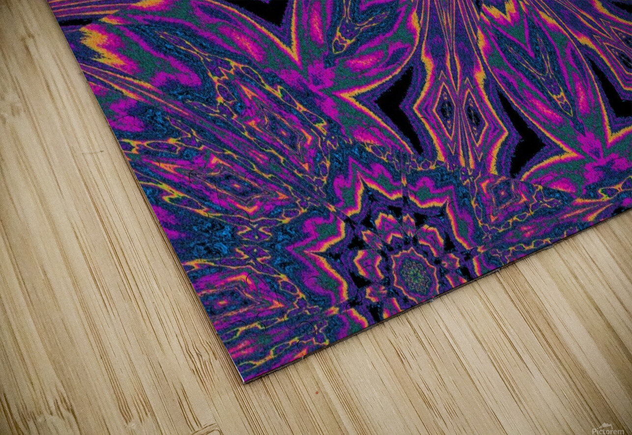 Psychedelic Jasmine 3 HD Sublimation Metal print