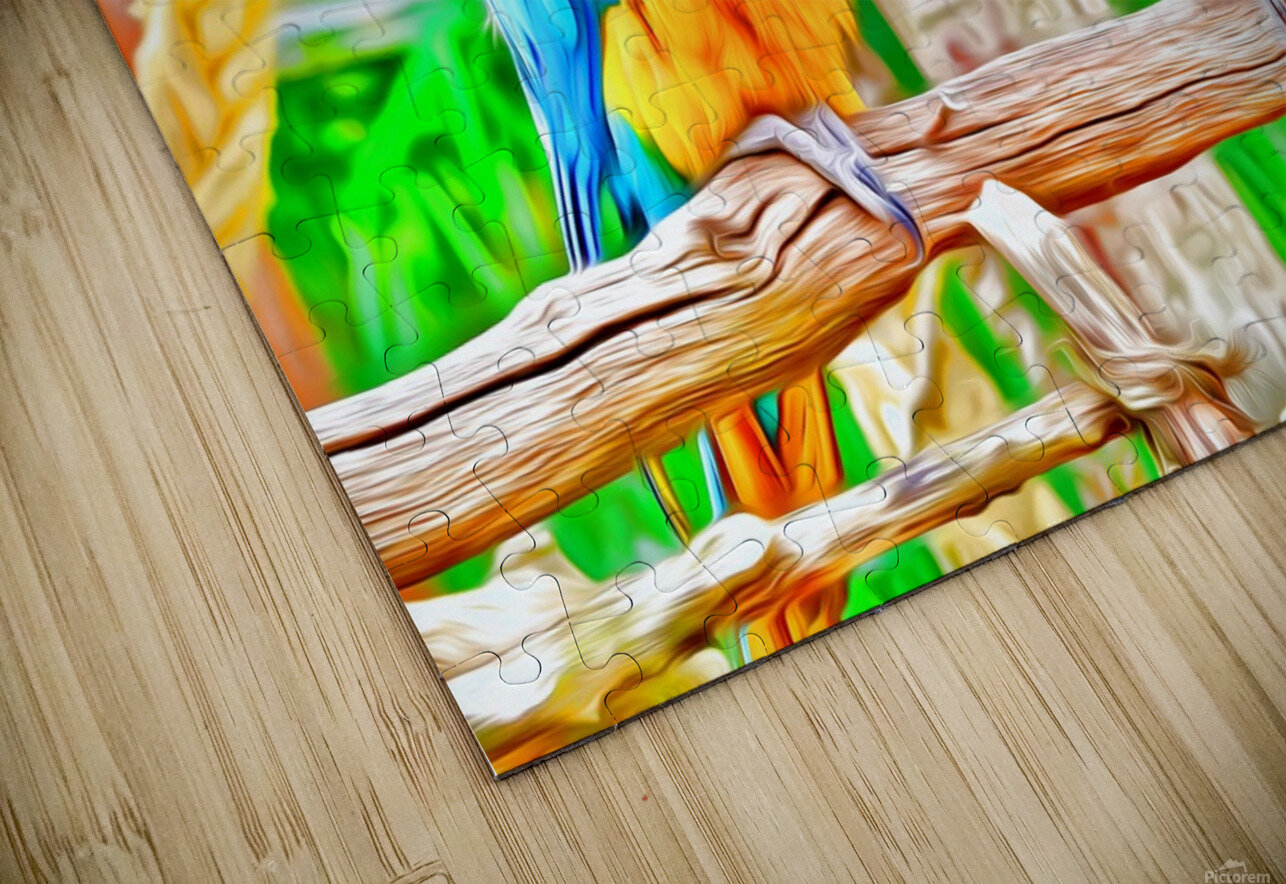 BirdsTalking HD Sublimation Metal print