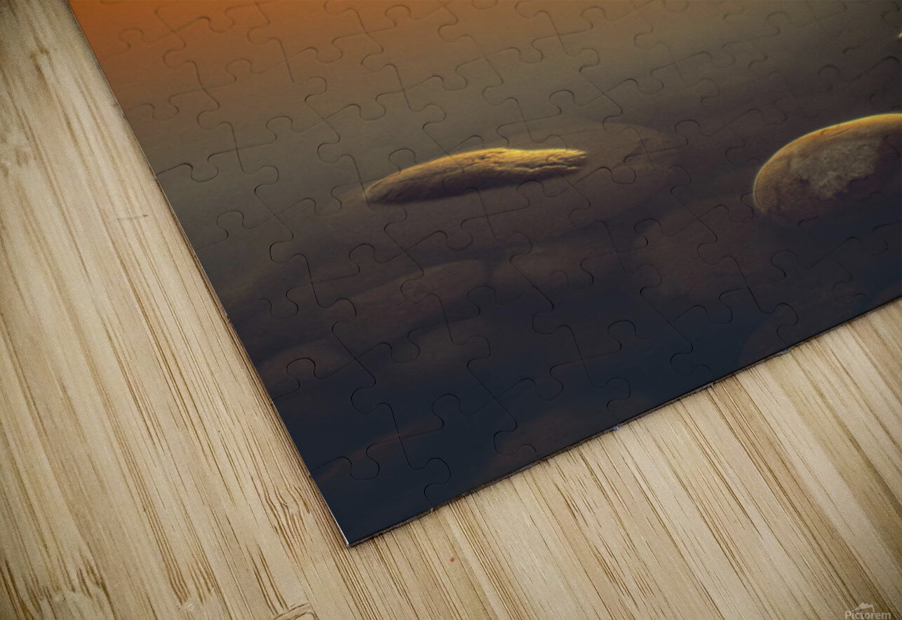 Reesor Lake At Sunset, Cypress Hills Interprovincial Park, Elkwater, Alberta, Canada HD Sublimation Metal print
