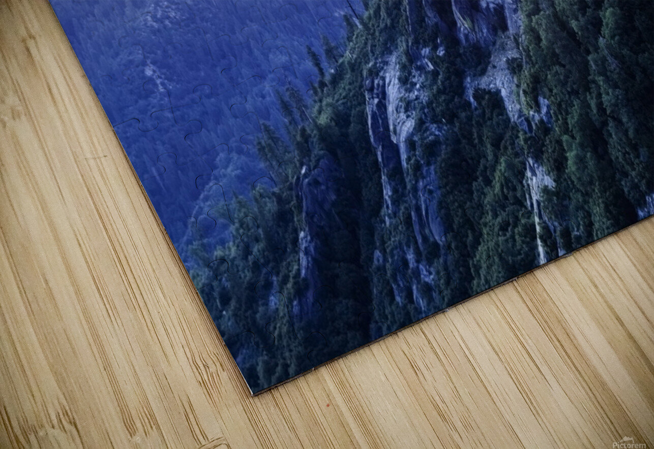 View from Moro Rock at dusk, Sequoia National Park; California, United States of America HD Sublimation Metal print