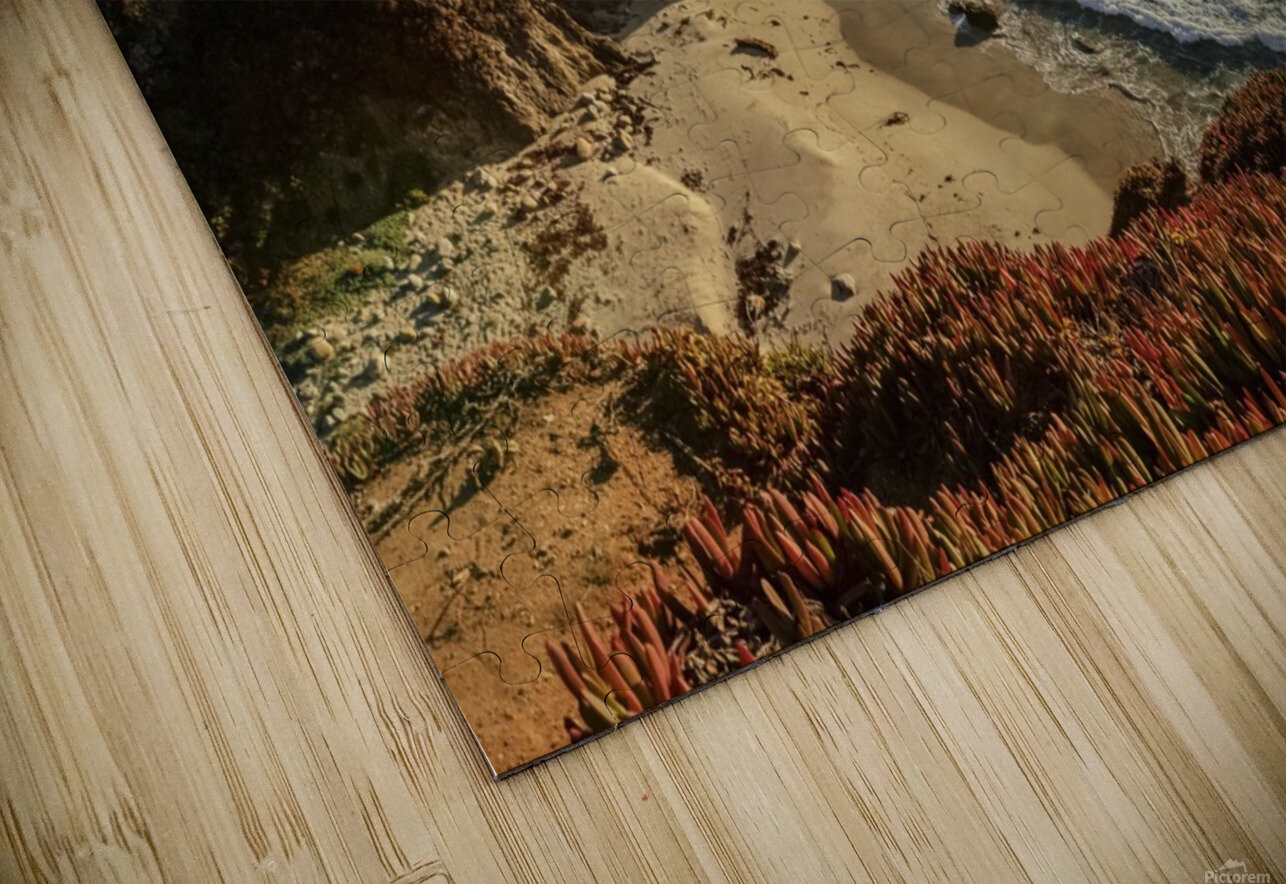 Cliffs along Big Sur coastline near Rocky Creek Bridge on Highway One; California, United States of America HD Sublimation Metal print